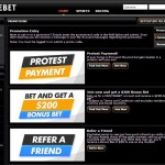 Centrebet Promotions and bonuses page screenshot
