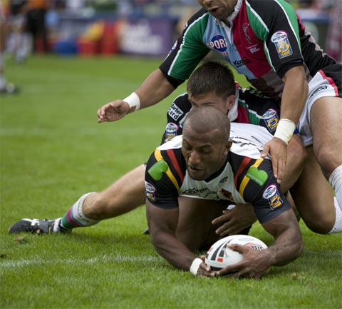 Rugby League - Scoring a Try