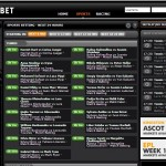 Centrebet Sports betting range page screenshot