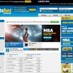 Sportsbet homepage screenshot