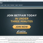 Betfair exchange homepage screenshot