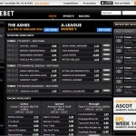 Centrebet homepage screenshot