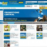 Sportsbet promotion and bonus page screenshot