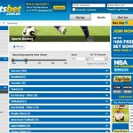 Sportsbet Sports betting range page screenshot
